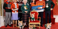The Royal Family in their Ugly Christmas sweaters