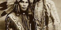 A very handsome Native North American couple, Situwuka and Katkwachsnea 1912