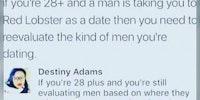 Evaluating men when you're 28 or older.