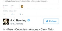 JK Rowling shutting down a person trying to shut her up