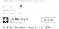 JK Rowling shutting down a person trying to shut her up