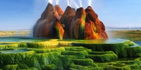 Incredible Fly Geyser in Nevada