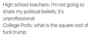High school teachers vs college professors