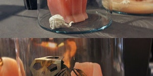 This candle is equal parts creepy and cool.