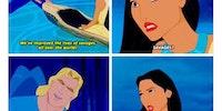 Disney flirting.