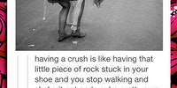 What having a crush is like.