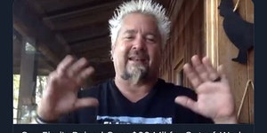 Guy Fieri feeds the people