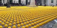 This is how factory workers in Italy protest.