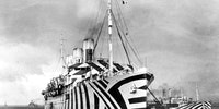 Dazzle camouflage used in WWI