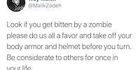 The apocalypse is a team sport.
