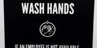 Had to wash my own hands.