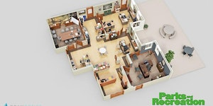 Parks and Recreation Office 3D Floor Plan