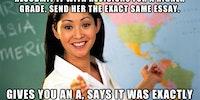 Happened to a friend of mine. Scumbag teacher.