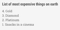 The most expensive things on earth