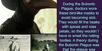 Bubonic plague masks.