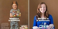 Lego girl - then and now.