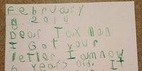 The IRS picking on a five year old.