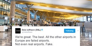 The official twitter account of Norways biggest airport.