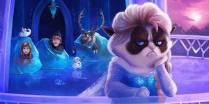 Grumpy Cat's Frozen heart.
