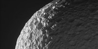 Image of Saturn's moon Mimas taken from the Cassini spacecraft