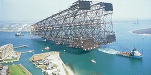 Just an oil platform being taken out to sea...