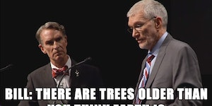 One of my favorite lines from the Bill Nye / Ken Ham debate.