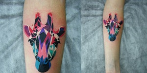 Neat tattoos.