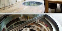 Kitchen that has an underground Fridge