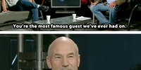 Patrick Stewart keeps it real
