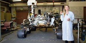For those of you like me who always imagined the Mars Curiousity Rover was about the size of a dog.