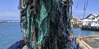 40 tons of loose fishing nets retrieved from the Pacific Ocean