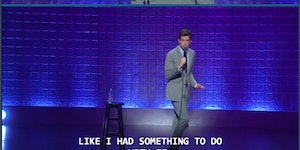 John Mulaney may have done it, actually.
