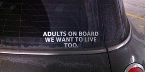 Adults on board.