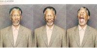 Morgan Freeman being Morgan Freeman.