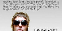 Liam Gallagher on pirating.