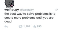 The best way to solve problems...