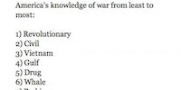 America's knowledge of war.