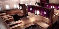 First-class seats on Qatar Airways' new A380.