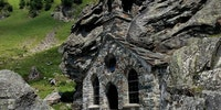 Church carved inside a rock, Austria
