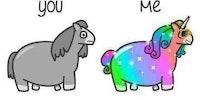 You versus me.