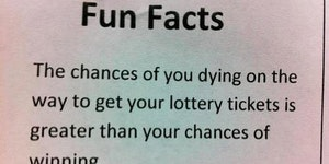 Fun fact about the lottery.