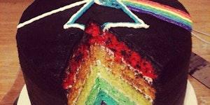 Dark side of the cake.