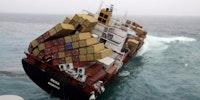 A cargo ship's final moments