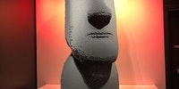 1:1 Easter Island head made of LEGO
