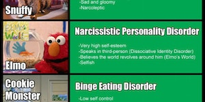 Every Sesame Street Character Is Suffering From Severe Mental Disorders