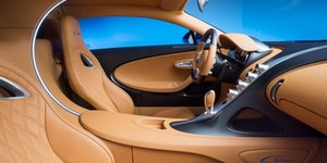 Interior of the new Bugatti Chiron 2016