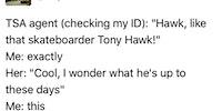Hawkward...