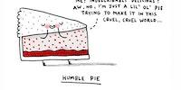 Humble pie.