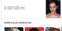 Emma Watson is 0.00103 miles tall