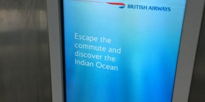 Not the best time for British Airways to run this ad...